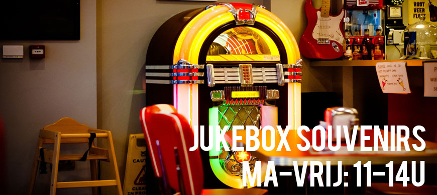 Jukebox souvenirs in het Lunchcafe